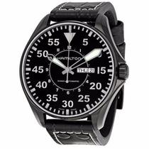 Reloj Hamilton Khaki King Pilot Automatico Negro H64785835