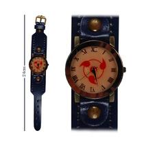 Reloj De Mano Naruto Sharingan Con Correa Cafe Gruesa