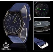 Reloj Orkina Última Moda Correa De Tela. Casual