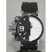 Reloj Oakley Gear Box White Black Ultrasize Original Ultimo