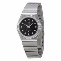 Reloj Omega Constellation Mujer Negro 12315276051001