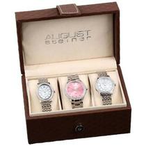 Reloj Set August Steiner Plateado
