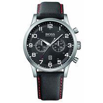 Reloj Hugo Boss Aeroliner Cronógrafo Piel Negra 1512919