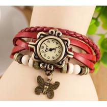 Reloj Vintage Rojo Para Dama Nuevo En Subasta!!