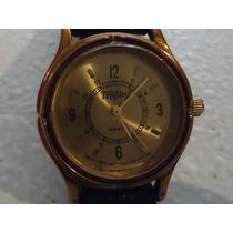 Reloj Swiss Trophy Camel Impecable Café Con Dorado