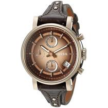 Fósil Original Novio Reloj Cronógrafo De Cuero