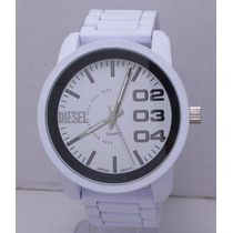 Reloj Hombre Diesel Sumergible Barato Excelent Blanco Regalo