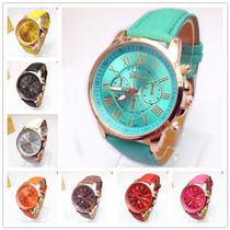 Lote 10 Relojes De Moda Geneva Para Dama Numero Romanos
