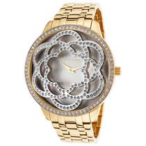 Reloj De Mujer Ted Lapidus Acero Inoxidable Dorado Carátula