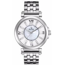 Reloj Bulova Fairlawn Diamantes Mujer A. Inoxidable 96p134