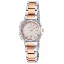 Reloj Bulova Diamond Gallery Acero Dorado Blanco 98r206