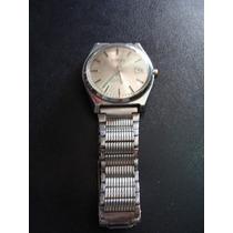 Reloj Steelco Para Caballero ,caratula Plateada, Metalico, A