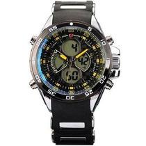 Reloj Shark Sh057 Militar Pantalla Lcd Impermeable Negro
