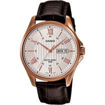 Reloj Casio Caballero Mtp1384l - 7av Analogo 100% Original