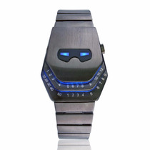 Reloj Led Metalico Iron Man Lujo Digital Binario Moderno Luz