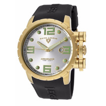 Reloj Swiss Legend Ambassador Caucho Negro 30021-yg-02s