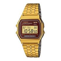 Reloj Casio Retro A159 Dorado Alarma Diaria Cronometro Luz