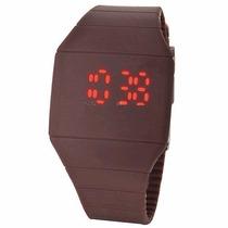 Reloj De Silicon Cafe Para Dama Y Caballero Display Led