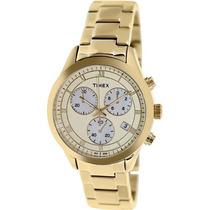 Reloj Timex T2p159 Dorado Femenino