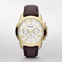 Reloj Fossil Machine Chronograph Leather Fs4767 | Watchito
