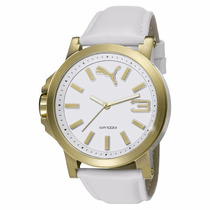 Puma Capsule Ultrasize 45 Gold White Piel Relojes Diego Vez