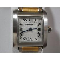 Elegante Y Hermoso Reloj Cartier Tank Frances Para Dama,hm4