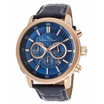 Reloj Lucien Piccard Monte Viso Dorado Piel Azul 12011-rg-03