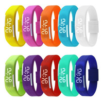 Reloj Touch Digital Pulsera Led Ajustable Varios Colores Dig