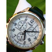 Reloj Timex Luz Indiglo Wr 100m Taquímetro & Calendario