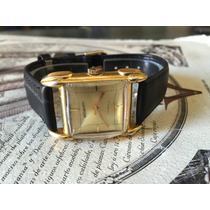 Reloj Atlantic Cuerda Antigua Chapa Oro De Coleccion Raro