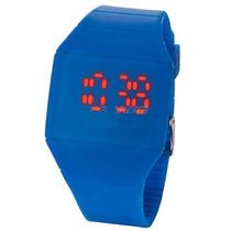 Reloj De Silicon Azul Para Dama Y Caballero Display Led