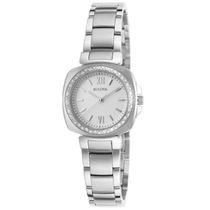 Reloj Bulova Diamond Gallery Acero Mujer Blanco 96r200
