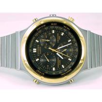 Original Reloj Citizen Cronografo 1/60seg Acero Bisel Dorado