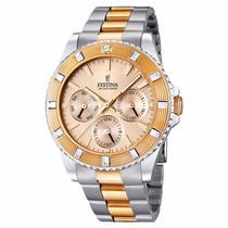 Reloj Festina Original Con Cuentas Oro Rosado M6p29 F16695/2
