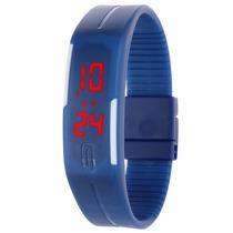 Relógio De Pulso Digital De Esportivo Ultrafino De Led