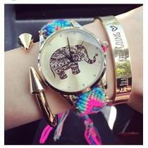 Reloj De Elefante Tejido Bohemio Hippie Pago En Persona