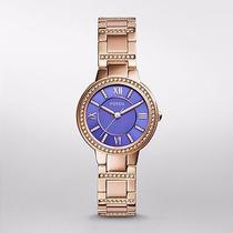 Reloj Fossil Virginia Rose-tone Stainless Steel Watch Es3653