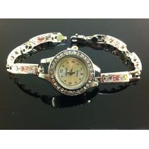 Reloj Brazalete Para Dama De Plata Ley 925