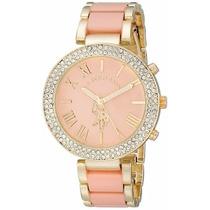 Reloj Us Polo Assn Women 40063 Dama Dorardo Con Tono Rosa