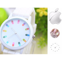 Reloj Moda Iphone Super Cool Turquesa Rosa Morado Y Blanco