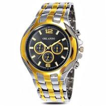 Elegante Reloj Para Caballero Con Subdiales Acero Inoxidable