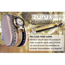 Relojes Para Dama De Gala Con Zirconias Incrustadas