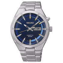 Reloj Seiko Kinetic A. Inoxidable Tono Plateado Smy155