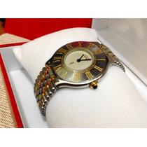 Cartier Siglo 21 Acero Oro Grano Arroz Tamaño Grande