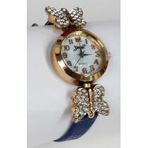 Reloj Elegante Pulso Para Dama Mariposa Varios Colores