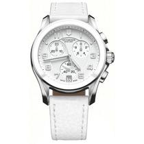 Reloj Victorinox Classic Cronógrafo Piel Blanca 241500