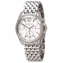 Reloj Michael Kors Glitz Pressley Silver Mk5834 Envíogratis