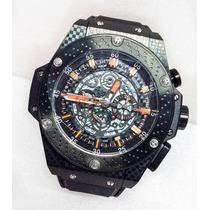 Reloj Para Caballero King Power Textura Tablero Ajedrez