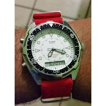 Reloj Casio Diver Analogo Digital Alarma Y Extensible Nato