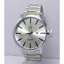 Reloj Hombre Calvin Klein Ck Excelente Plata Regalo